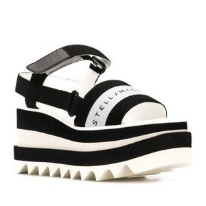 Stella McCartney Striped Platform Sandals